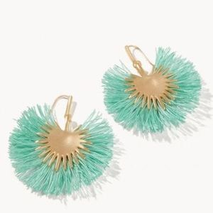 Spartina 449 Palmetto Frond Fan Earrings